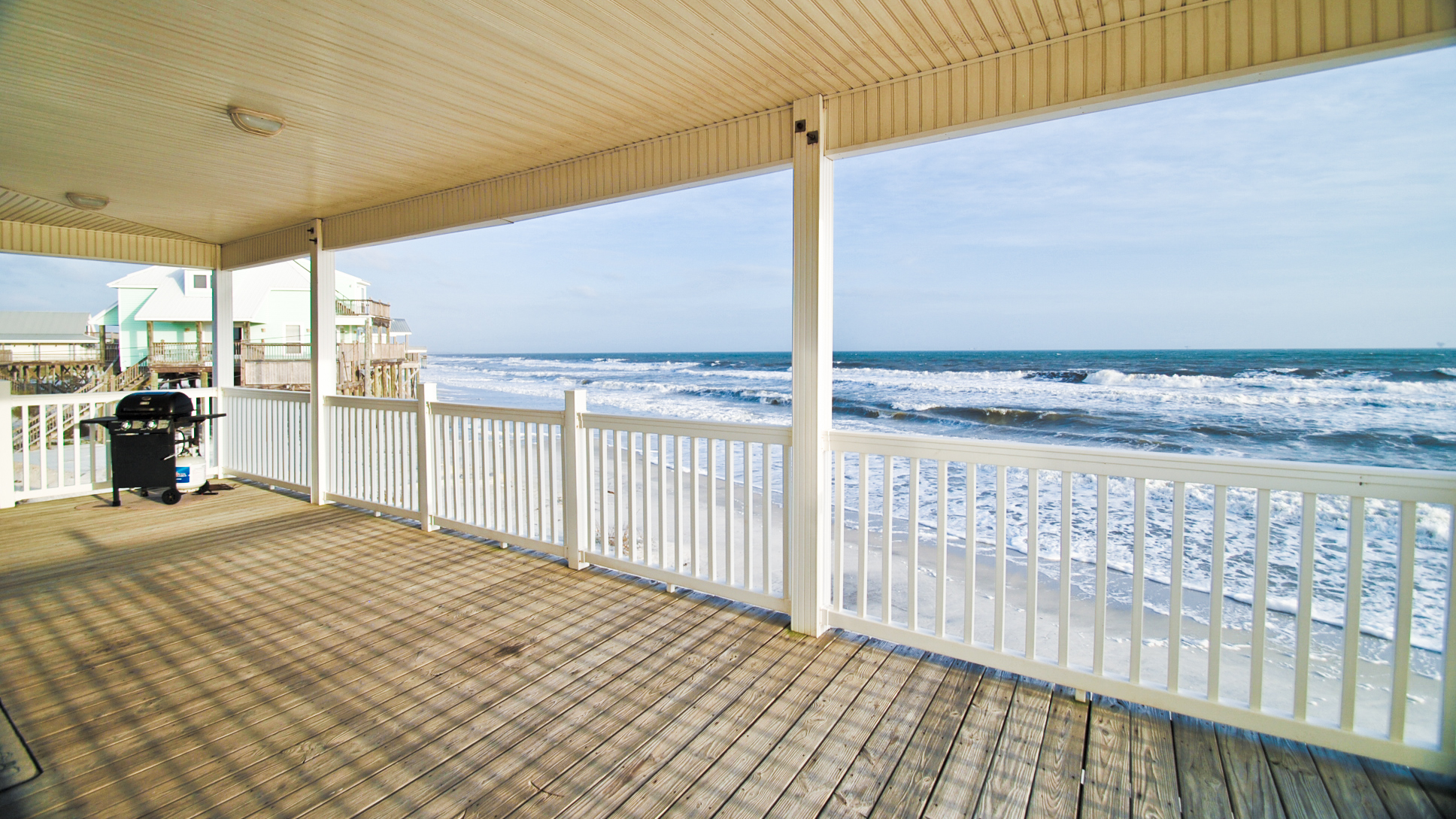 View from the porch of a Dauphin Island vacation rental beach house