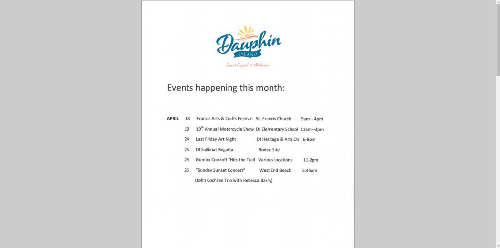 DI Events April 2015