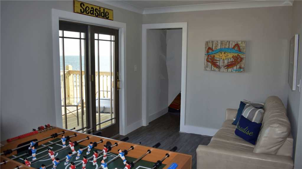 Game Room with Gulf-view balcony