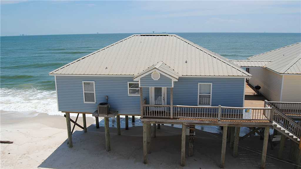 4 bedroom Gulf-front beach cottage on Dauphin Island