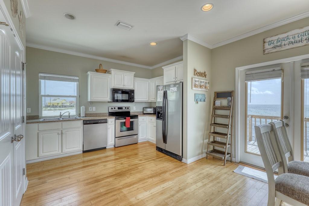 Clean Open Floor Plan Kitchen