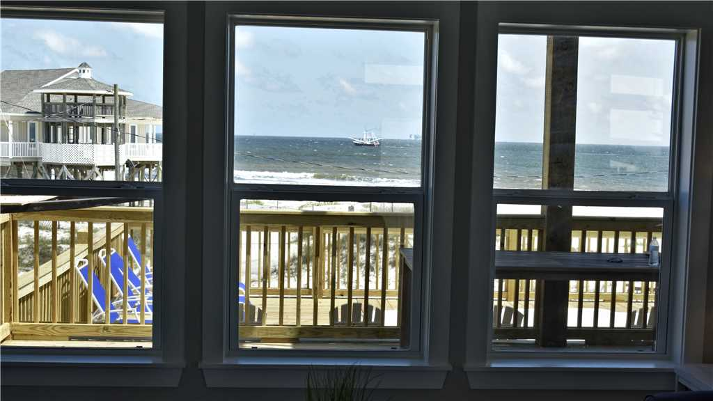 View of a shrimp boat from Living Room window
