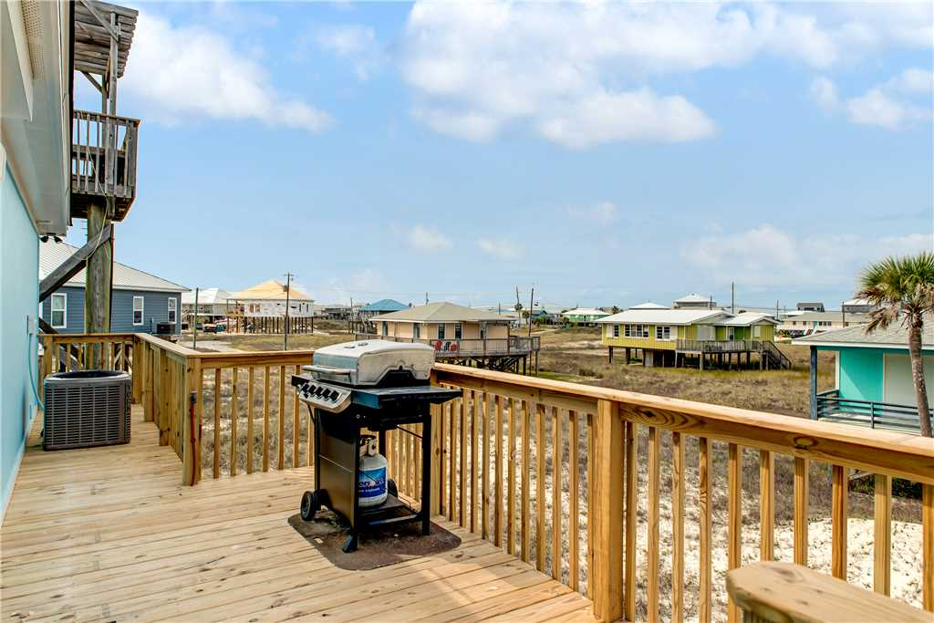 Front Deck with Grill Dauphin Island Vacation Rental