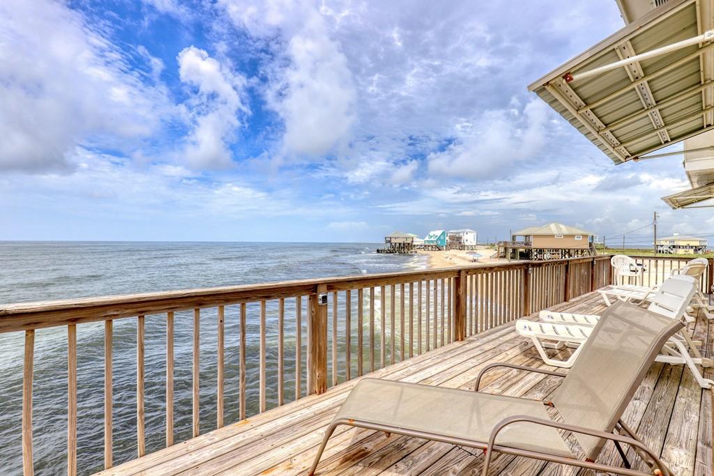 Deck view overlooking west beach