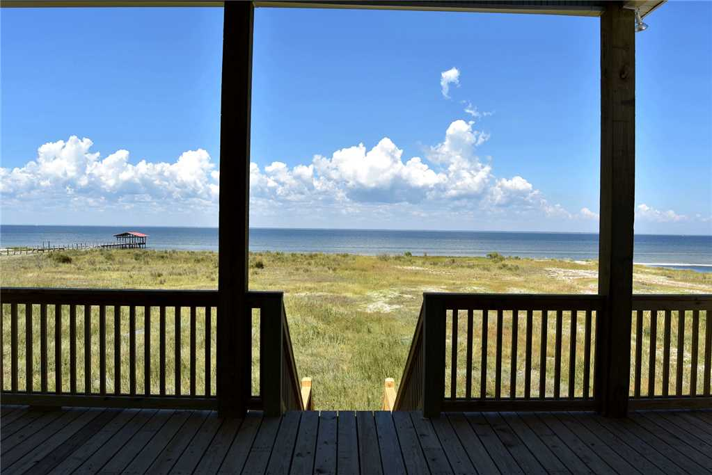 FRom Back porch, looking North at Bay Beach
