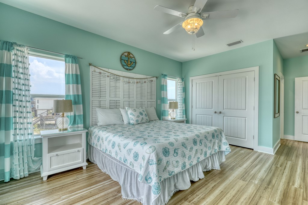 Master bedroom with plenty of storage