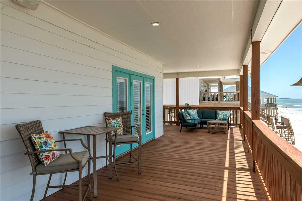 61 Shaded Deck Beach House Dauphin Island Beach Rental