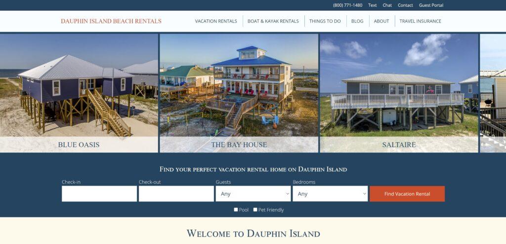 Dauphin Island Beach Rentals Website