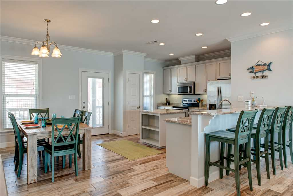 085 Dining Kitchen Floor Plan Dauphin Island Vacation Home